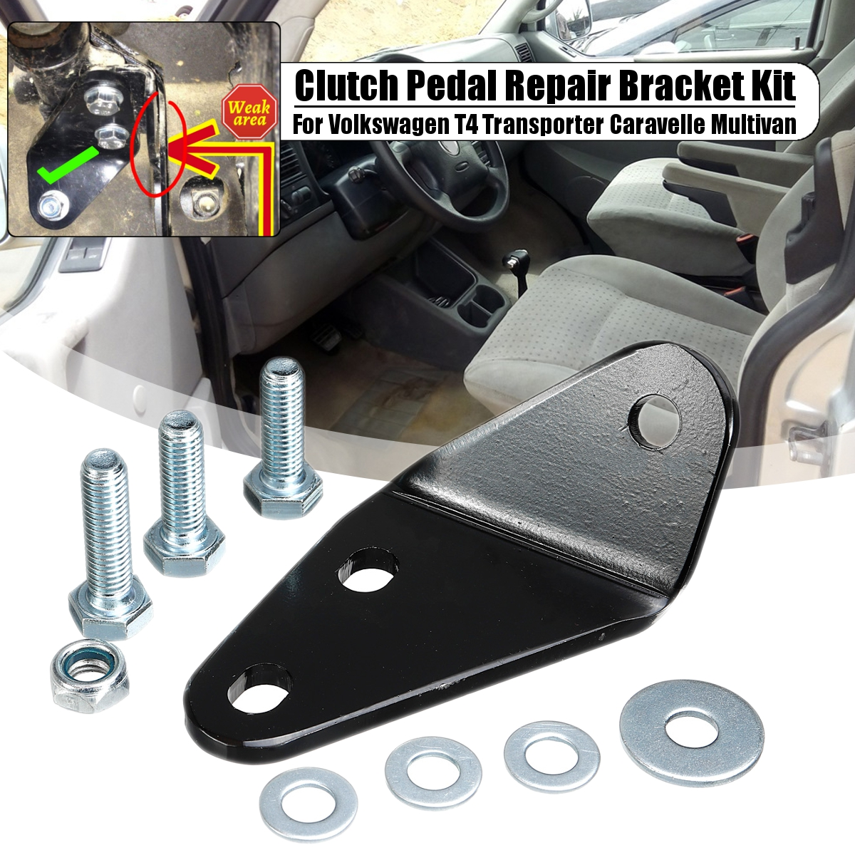 Car Clutch Pedal Repair Bracket Kit For Volkswagen T4 Transporter Caravelle Multivan Replacement