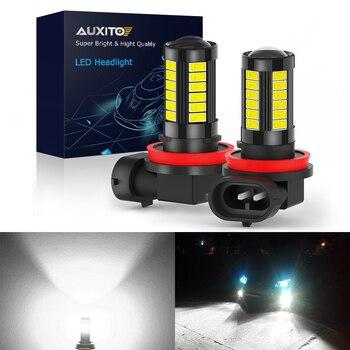 2x Led Fog Lights H11 H8 H16JP HB4 HB3 9006 9005 H9 H10 5630 SMD 2000LM 6000K 12V White Auto Driving Running LED Fog Lamps 12v