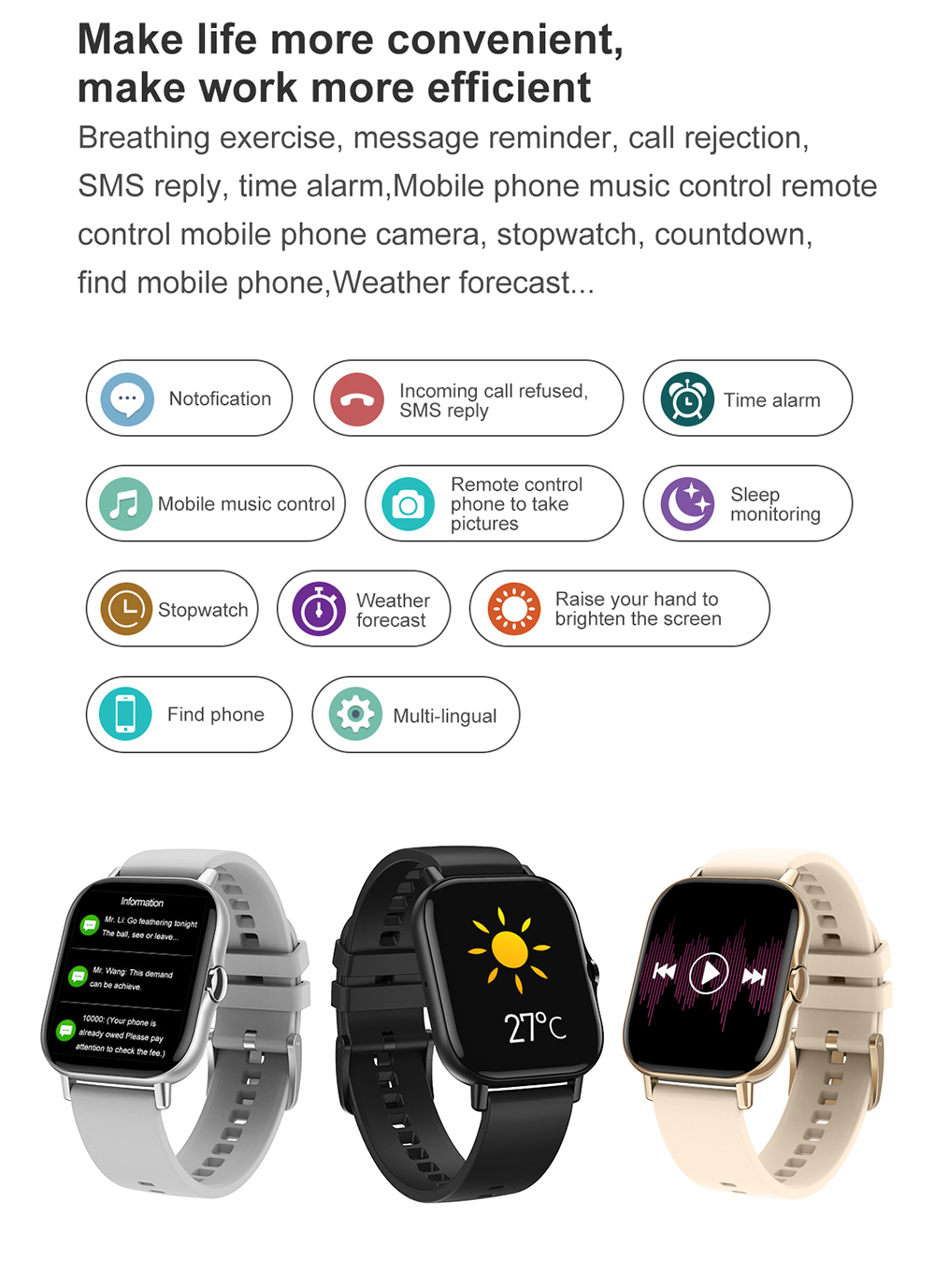 He2602cef7c40430f917d65a310979a7fC For Xiaomi IOS Apple Phone 1.78inch Smart Watch Android Men IP68 Waterproof Full Touch Woman Smartwatch Women 2021 Answer Call