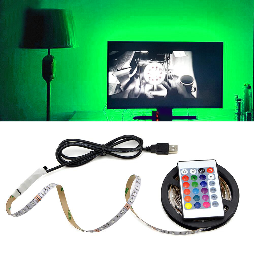 1m 2m 3m 4m 5m LED Kitchen Cabinet Lamp Closet wardrobe Cupboard LED Strip Light USB 5V RGB TV Backlight decor kitchen Lighting(China)