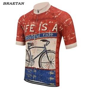 Image 2 - 面白いサイクリング青赤男性夏の半袖の服サイクリング着用自転車服サイクリング服 braetan