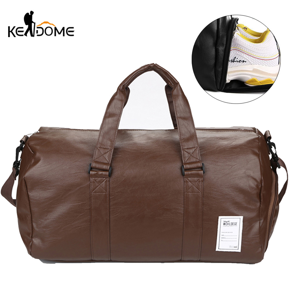 PU Leather Gym Fitness Bag Women Yoga Mat Bags Travel Handbag Tote Shoulder Pack For Shoes Training Gymtas Sac De Sport XA126D