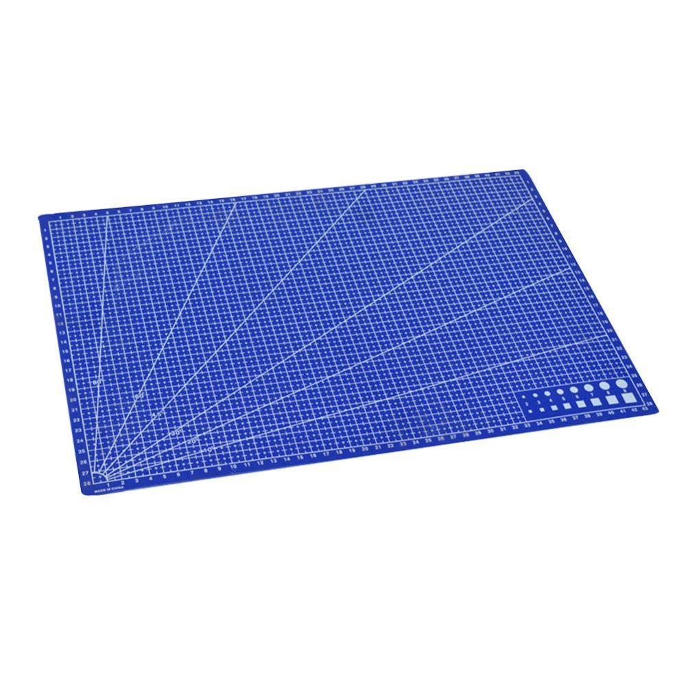 1 Pc A3 Pvc Rectangle Grid Lines Cutting Mat Tool Plastic Craft Diy Tools 45cm * 30cm Office Supplies Kids Gift Easy To Use