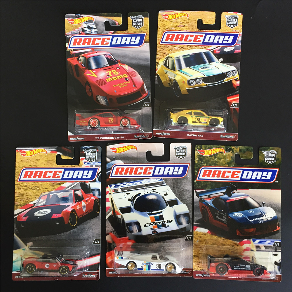 Hot Wheels Car 1:64 Car Culture Race Day Collector Edition Metal Diecast Model Collection Kids Toys Vehicle Gift