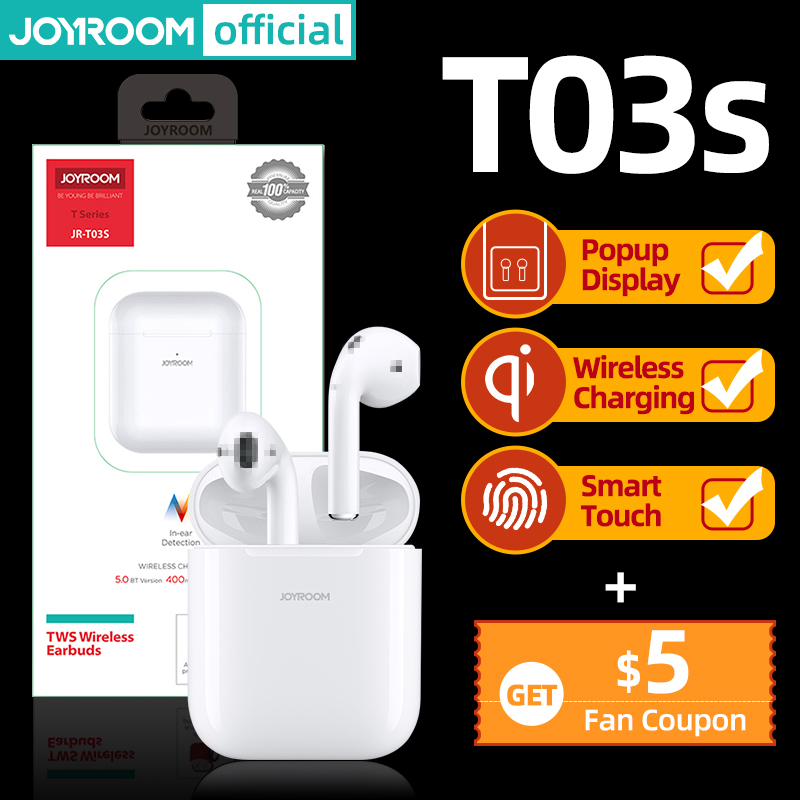 Joyroom T03S TWS Bluetoothearphone Earbud HIFI Sport Wireless Earphone Noise Cancelling In-Ear Headset Newest Version Original