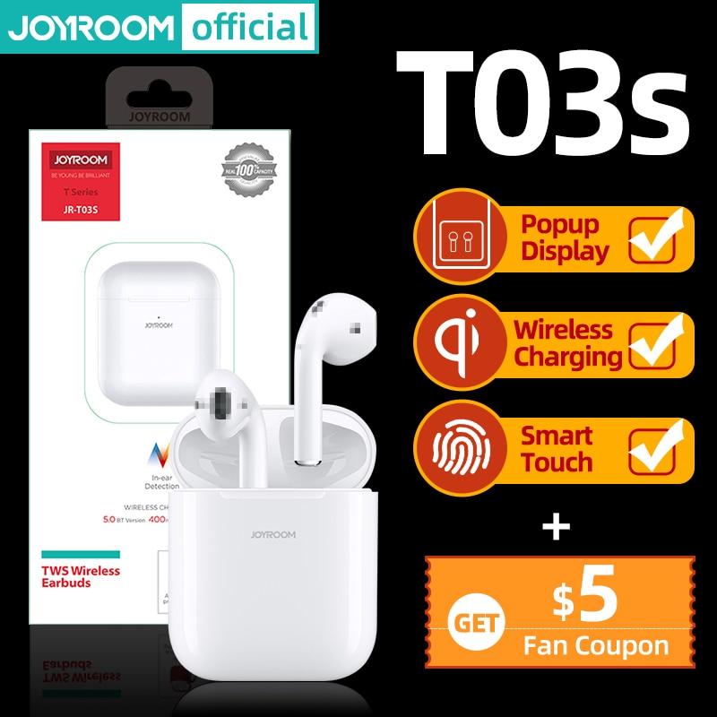 Joyroom T03S TWS Bluetoothearphone Earbud HIFI Sport Wireless Earphone Noise Cancelling In-Ear Headset Newest Version Original