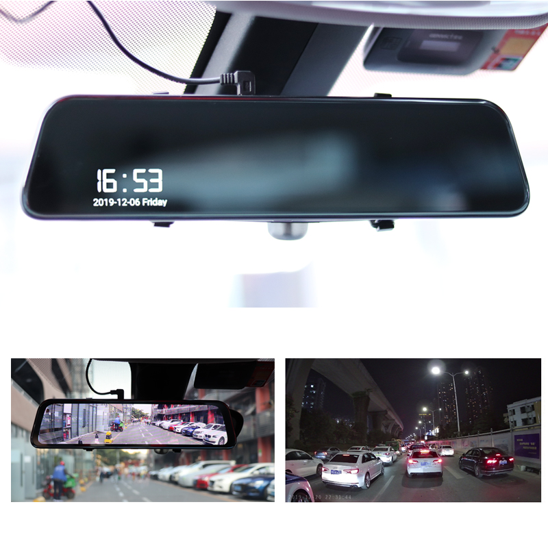 Latest 12 Inch 4G Android Rearview Mirror Car DVR HD 1080P GPS WIFI ADAS Dash Cam Dual Lens Recorder Auto Camera Registrar DVRs