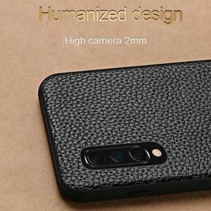 Image 3 - יוקרה עור טלפון מקרה עבור xiaomi mi 8 לייט A2 A1 9T 9 SE מקרה עמיד הלם אמיתי עור חזרה כיסוי עבור redmi הערה 7 K20 מקרה