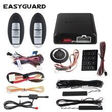 車の警報リモートエンジンスタートストップ自動パッシブエントリーシステムキットプッシュボタンスタートストップ窓近い PKE EASYGUARD