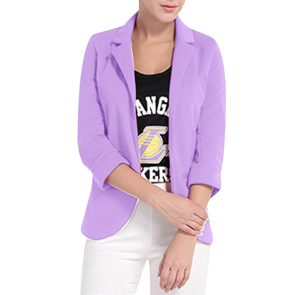 SAGACE Women's Candy-Colored Seven-Sleeve Sleeve Sleeve Solid Color Small Suit West Slim Fit Jacket Short Paragraph 7 Colors
