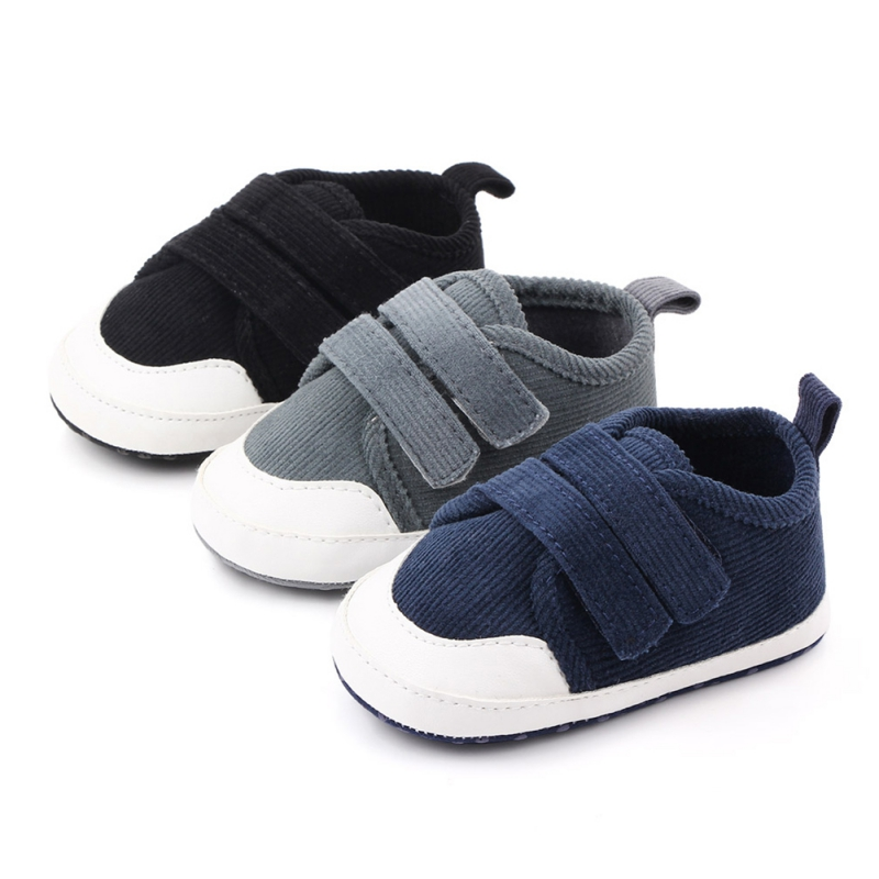 Baby Boys Girls Solid Canvas Shoes Infant Fashion Shoes Newborn Soft Sole Sport Shoes First Walker Sneakers For 0-18M