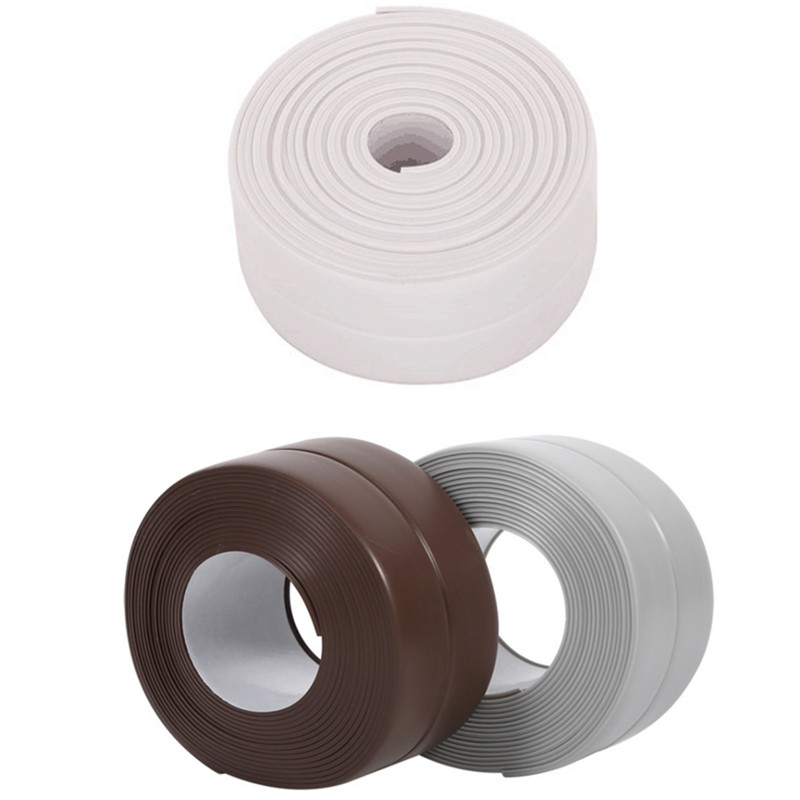 DIY Caulk Strip Self Adhesive Repair Mildew Tape Wall Edge Corner Bathtub Kitchen Sealing Strip For Washroom Ceramic Sticker