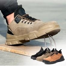 36~48 Work Shoes Genuine leather Steel toe Wilderness Survival Anti smashing Men Work Boots #YD806