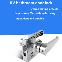 Blokada drzwi do RV  domowy uchwyt łazienkowy toaleta wc Twist Turn lock w Zamki do drzwi od Majsterkowanie na