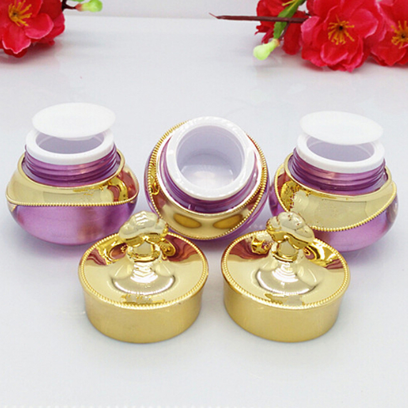 2019 Hot 1PC Plastic Refillable Bottles Crown Shape Empty Pot Makeup Jar Travel Face Cream Lotion Cosmetic Container Party Decor