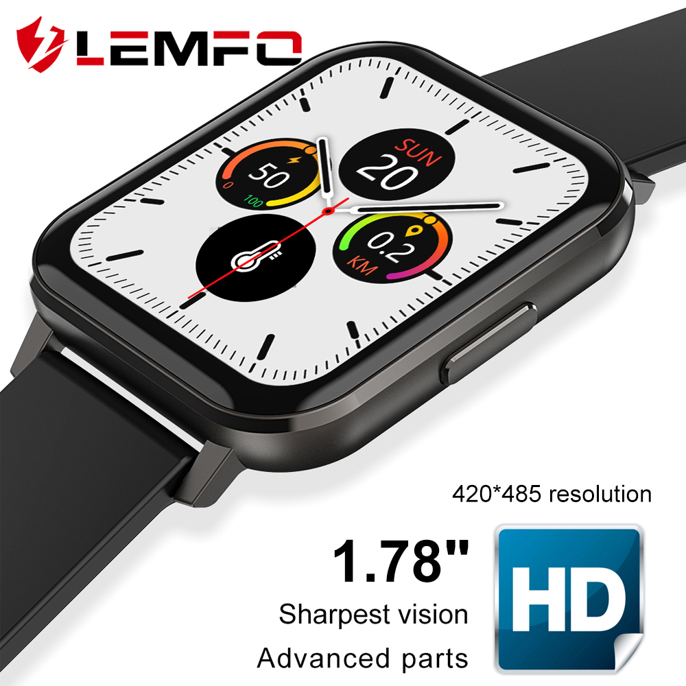 Smart Watch Men 1 78   420 485 Resolution Blood Pressure Oxygen ECG Smart Watch Fashion PK IWO W26 IWO 12 LEMFO DTX Smartwatch
