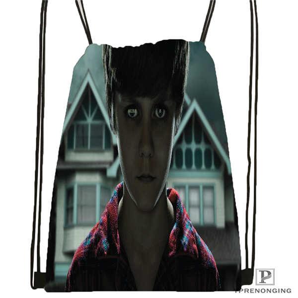 Custom Supernatural @01-Drawstring Backpack Bag Cute Daypack Kids Satchel (Black Back) 31x40cm#180611-01-30