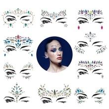 купить 10 Sets Mermaid Face Gems Glitter-Rhinestone Rave Festival Face Jewels,Bindi Crystals Face Stickers,Eyes Face Body Stickers Fo онлайн