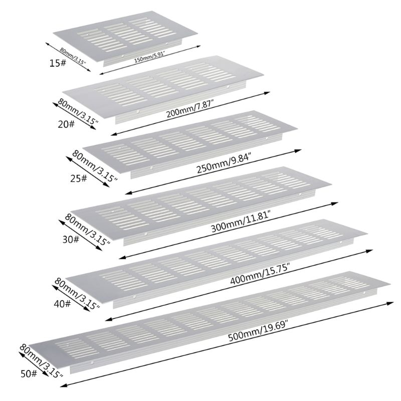 Multi Size Aluminum Alloy Air Vent Perforated Sheet Web Plate Ventilation Grille