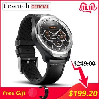 Paiement Original de NFC de WIFI de Bluetooth de montre intelligente de Sport de Ticwatch Pro/Google Assistant Android portent la Smartwatch GPS IP68 imperméable à l
