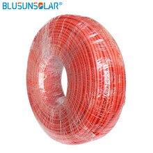 Venda quente 20/rolo 4mm 2/6mm2(12 awg/10awg) pv cabo fio vermelho e preto condutor de cobre xlpe jaqueta withtuv aprovação