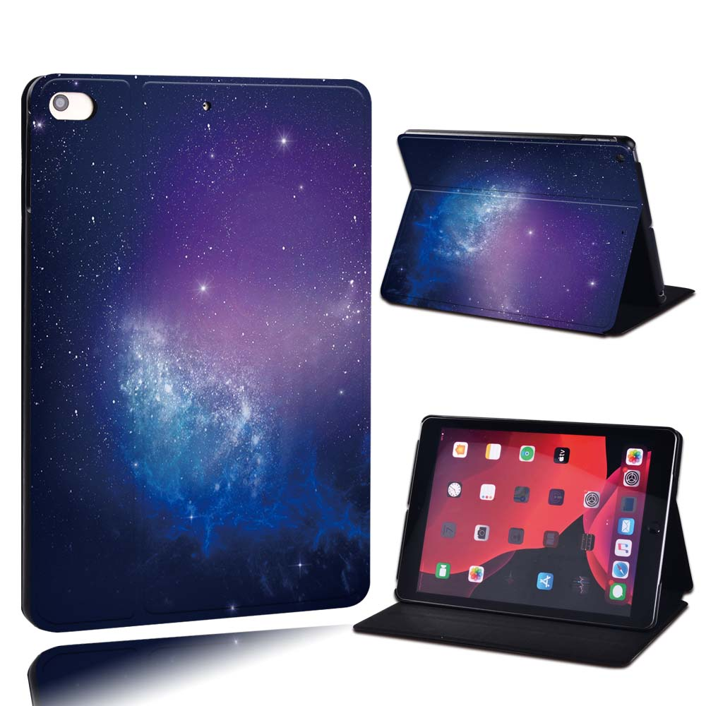 14.purple galaxy Brown For Apple iPad 8 10 2 2020 8th 8 Generation A2428 A2429 PU Leather Tablet Stand