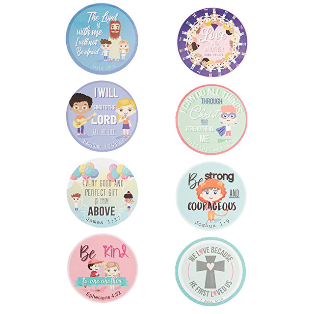Christian Bible Verse Stickers 500pcs for kids religious sticker for party wedding decoration and use for