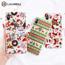 Lovebay Clear Soft Phone Cases For iphone 8 7 6 6S Plus X XR XS Max Silicon Christmas Santa Claus Case Cover
