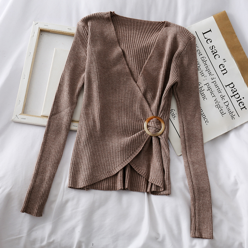 Spring Autumn Thick Sweater Women Clothes 2020 Pull Femme Pullover Sexy Knitted Shirt Long Sleeve Ladies Tops Ropa Mujer ZT5265
