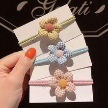 Bandes élastiques à petites fleurs pour petites filles, accessoires de coiffure pour enfants, anneau de coiffure, outils de coiffure