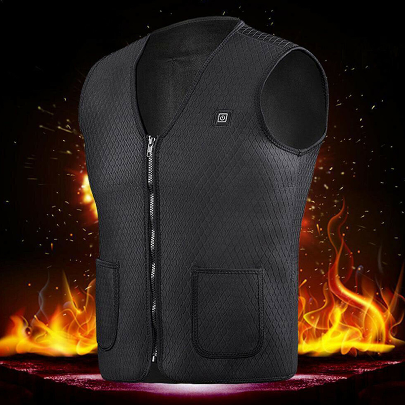 New Arrival Electric Heated Vest Jackets Warm Up Heating Warmer For Winter Outdoor Skiing