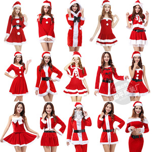 new fashion Dress 2019 New Ladies Cosplay Costume Christmas Santa Claus Stage Show Clothing Sexy Red COS Dancing Robe Gowns
