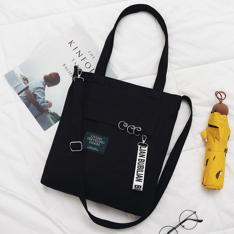 Fashion Women Shoulder Bags 2019 Brand New Letter Canvas Soft Letter Messenger Bags Female Students Girls School Bags Handbags