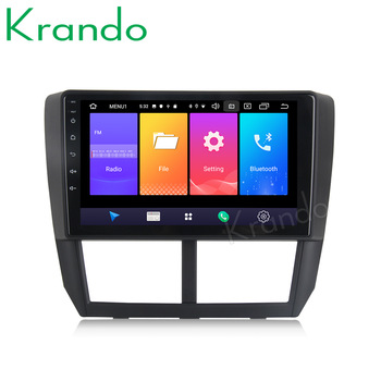 Krando Android 9.0 9 IPS Big screen car radio multimedia system GPS for Subaru Forester 2008-2012 navigation gps No 2din DVD image