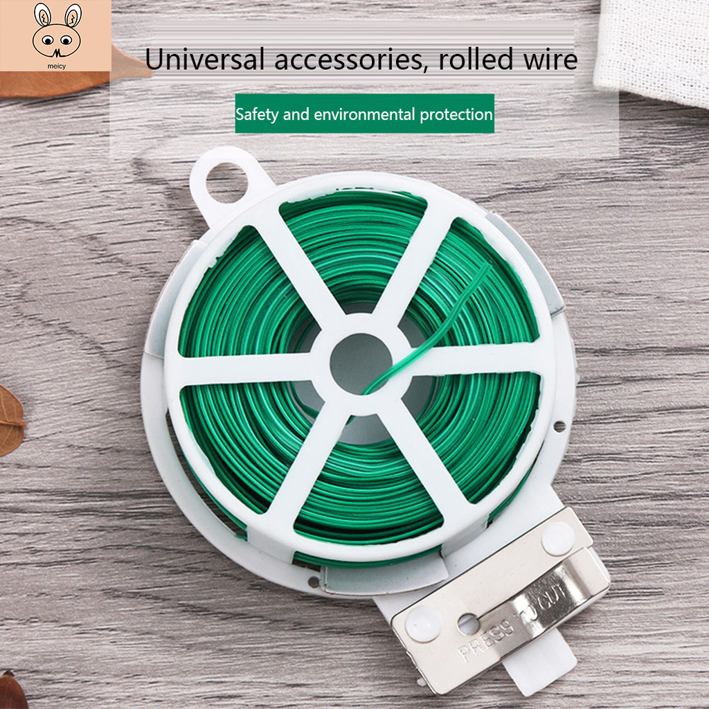 20M Tied Rope Disk Rope Vines Fastener Binding Wire Plant Vegetable Grafting Fixer For Agricultural Greenhouse Supplies Dropship