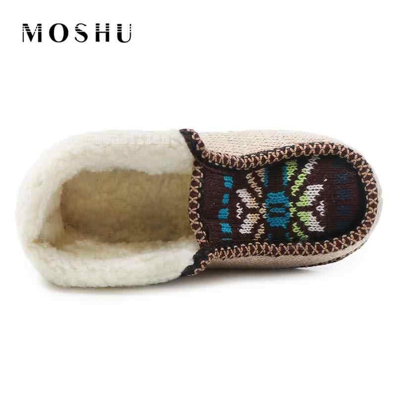 Kapalı Botlar Kadın Kış Ev Ayakkabı Bayanlar Üzerinde Kayma Faux Kürk Bota Feminina Işlemeli Ev Bootie Peluş Taban Zapatos Mujer