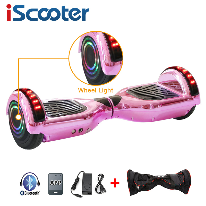 iScooter 6.5 inch Two wheels Electric Hoverboard with Bluetooth and LED Light 1