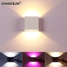 Вверх/вниз настенный светильник 6 Вт COB светильник современный и простой стиль декоративный светодиодный светильник белый/теплый белый/розовый цвета окружающий светильник на входе 85-265 в