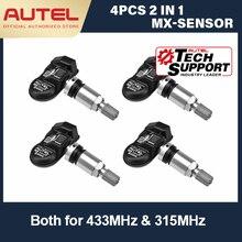 Autel capteur MX 433mhz 315mhz, capteur MX 2 en 1, capteur de programmation de pression de pneu universel TPMS PAD TS601 TS401 outil TPMS