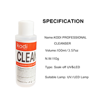 KODI PROFESSIONAL 100ml Nail Cleanser UV Gel Varnish Remover Surface Sticky Layer Residue Nail Art Acrylic Clean Degreaser