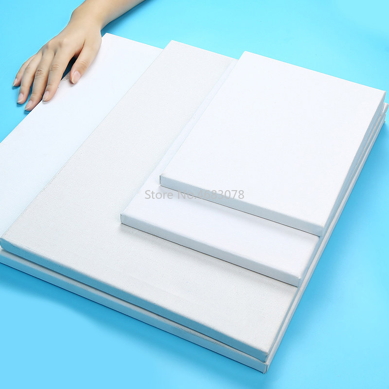 1piece Oil Painting Canvas Blank Cotton Canvas Panels Square Mounted Art Artist Boards Painting Tool Craft