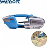SWANSOFT Battery strapping tools hand held PP PET strapping machine plastic belt packaging battery strap width13 16mm JD16