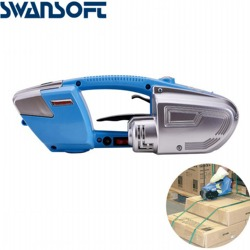 SWANSOFT Portable rechargeable plastic steel strapping machine express commercial hot melt baler manual strapping box packing