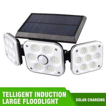 Luz Solar LED para exteriores lámpara alimentada por energía Solar con Sensor de movimiento, farola para decoración de jardín, decoración de Navidad, 138