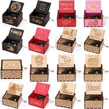 Антикварная резная деревянная коробка, ручная выкручивающаяся музыкальная шкатулка, тема Caixa De Musica, подарок на день рождения, вечерние украшения