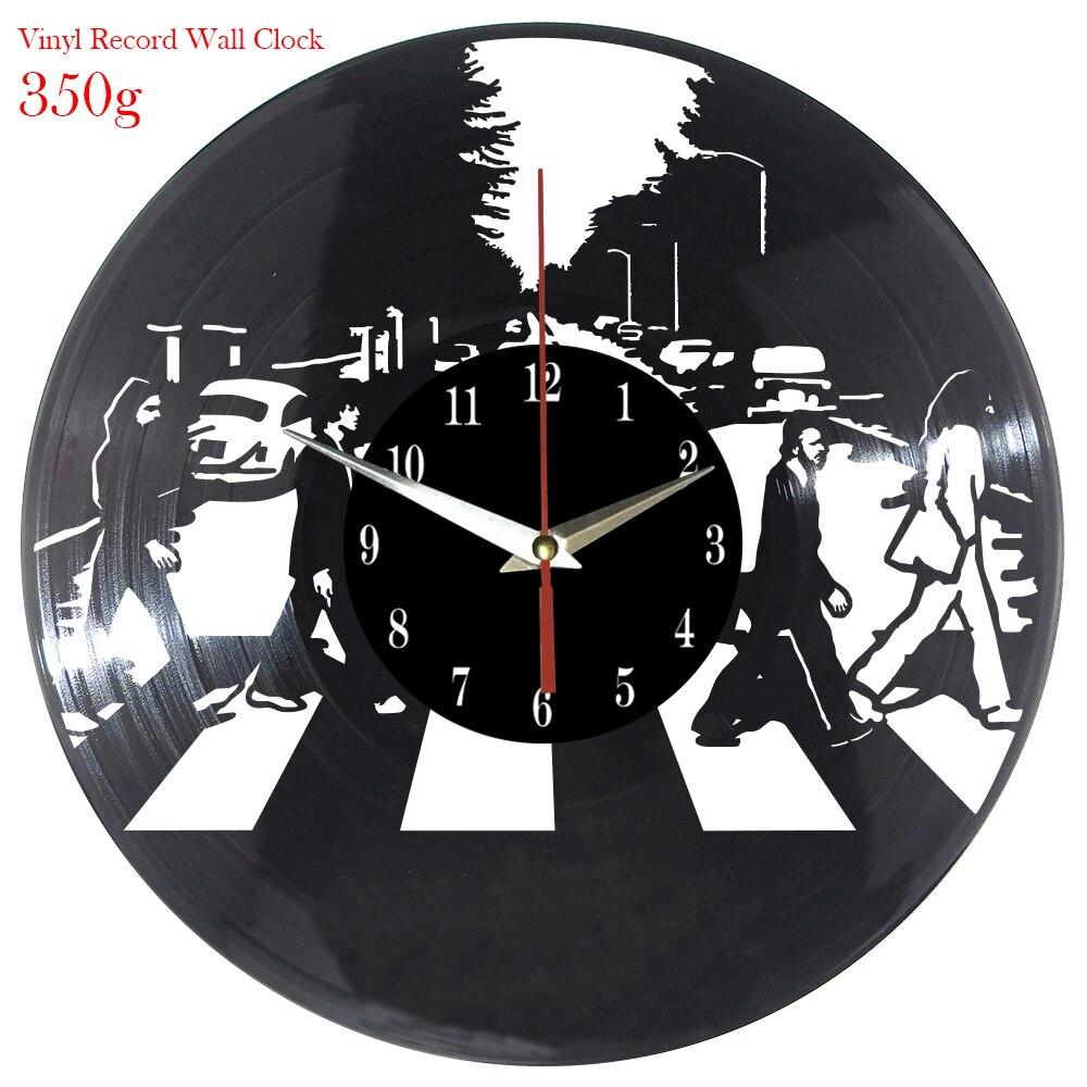 Vintage LEVOU Relógio Vinil Gatinho Arte Silenciosa