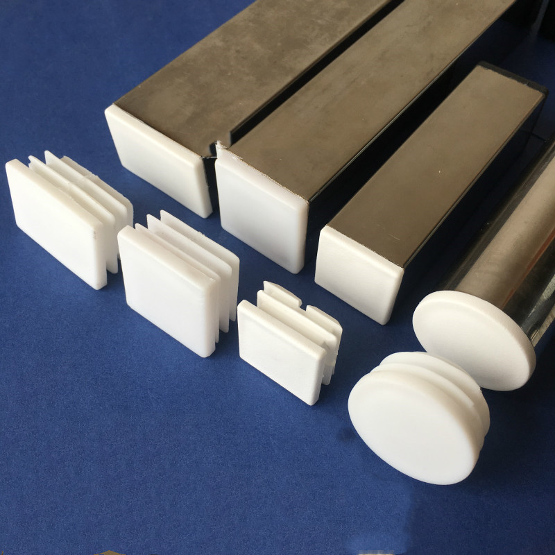 10pc Furniture Leg Hole Plug Dust Cover White Plastic Furniture