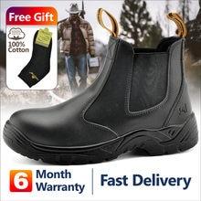 Safetoe S3 Sicherheit Schuhe Mit Stahl Kappe Kappe, licht Gewicht Atmungsaktiv Arbeit Stiefel Wasserdicht Leder Für Männer Und Frauen Botas Hombre