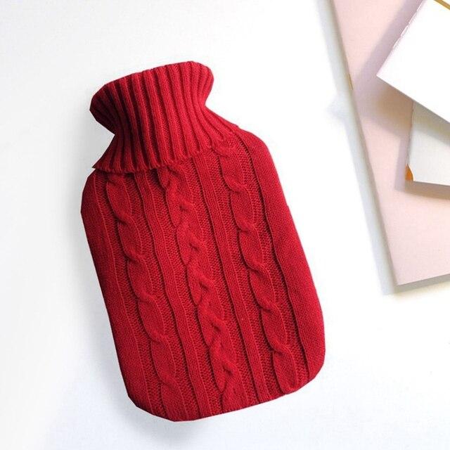 Bouillotte avec housse tricotée couleur unie Bouillottes Fluffy Textile Cocooning.net