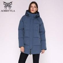 AORRYVLA מקרית נשים חורף מעיל ארוך סלעית כותנה מרופד נשי מעיל באיכות גבוהה חם להאריך ימים יותר אישה מעיילים בתוספת גודל 2020